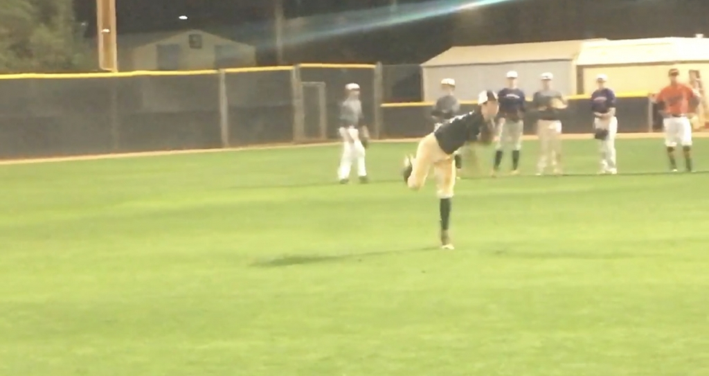 Top times and velocities from Five Tool West Position Player Workout at CSN