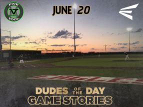 Easton Dudes of the Day/Game Stories: Five Tool Midwest WSU Turf Classic (Wednesday, June 20)