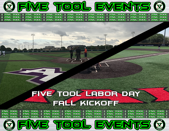 September 1-2: Five Tool Labor Day Fall Kickoff