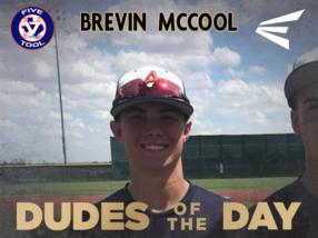 Brevin McCool, Dude of the Day, Sept. 1