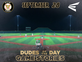 Easton Dudes of the Day/Game Stories: Five Tool West Fall ABQ (Friday, September 28)