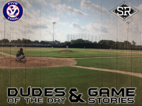 Dudes of the Day/Game Stories: Five Tool Texas DFW Warm-Up (Monday, May 27)
