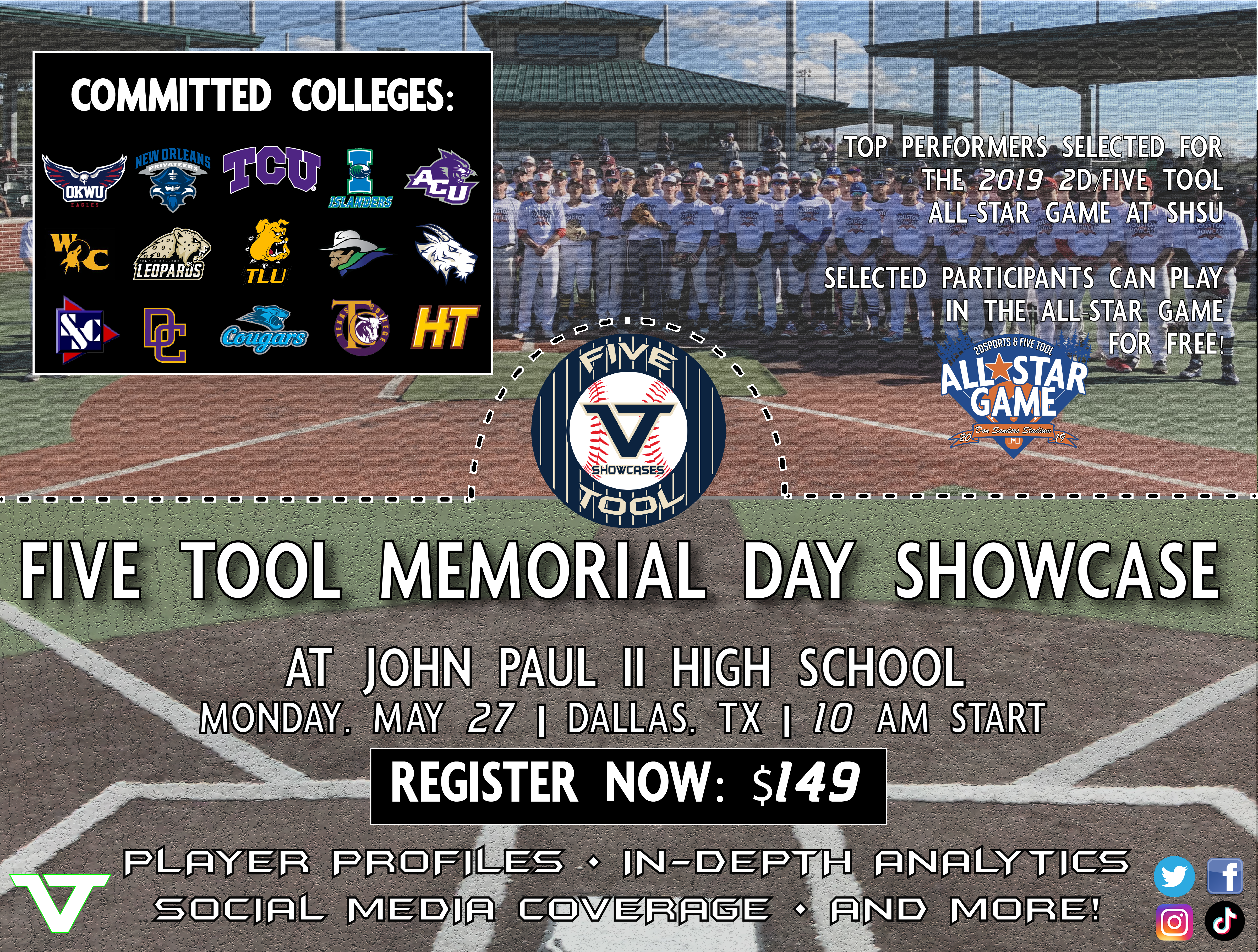 Five Tool Memorial Day Showcase & All-Star Trials