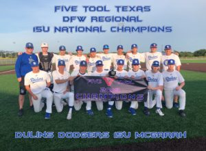 Five Tool Texas DFW Regional 15U National Champions - Dulins Dodgers 15U Mcgarrh
