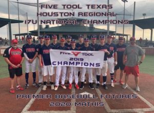 Five Tool Texas Houston Regional 17U National Champions Premier Baseball Futures 2020 Mathis