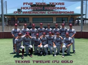 Five Tool Texas Houston Regional 17U American Champions Texas Twelve 17U Gold