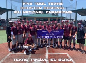 Five Tool Texas Houston Regional 16U National Champions Texas Twelve 16U Black