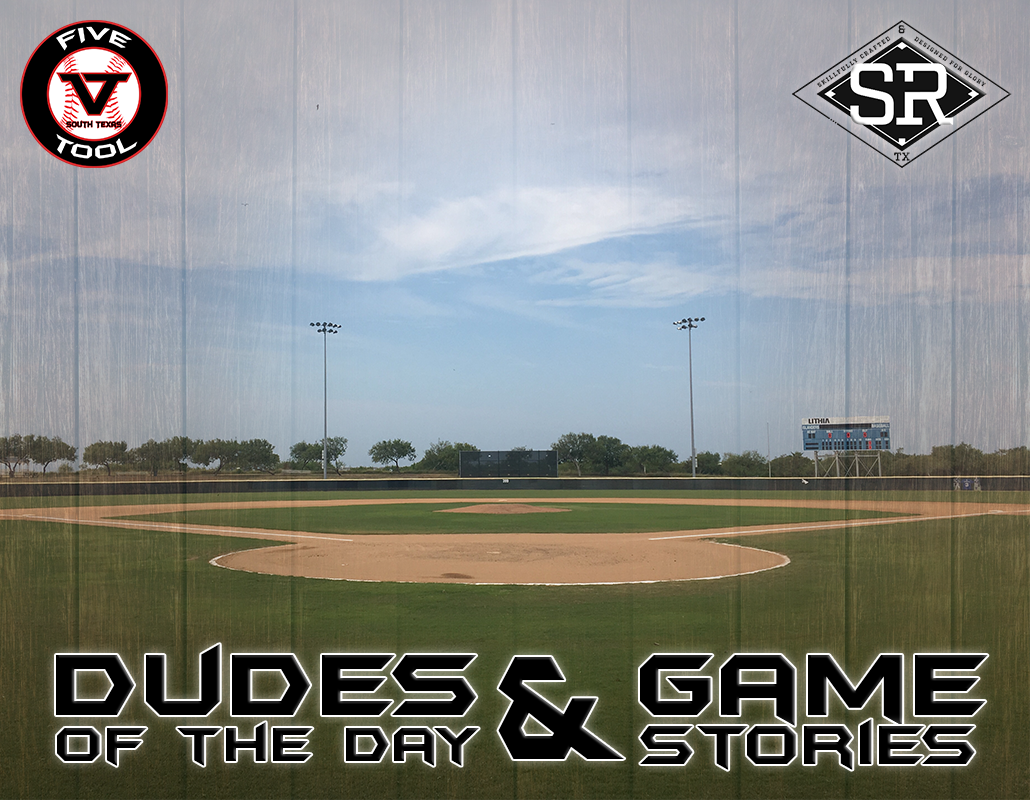 Dudes of the Day/Game Stories: Five Tool South Texas Beach Classic (Friday, July 12)
