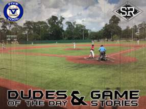 Dudes of the Day/Game Stories: 2D/FiveTool Wood Bat Finale (Saturday, July 27)