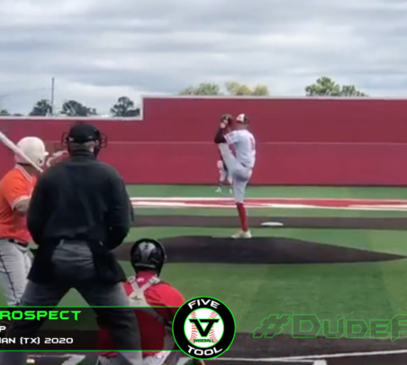RHP Jackson Blue Sick Slider, Woodlands Christian (TX) 2020, UTA Commit, Five Tool Baseball Prospect