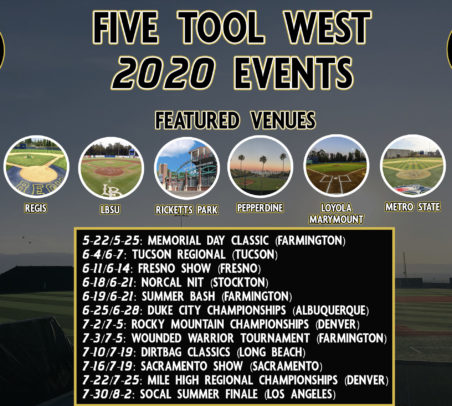 Five Tool West 2020 Events