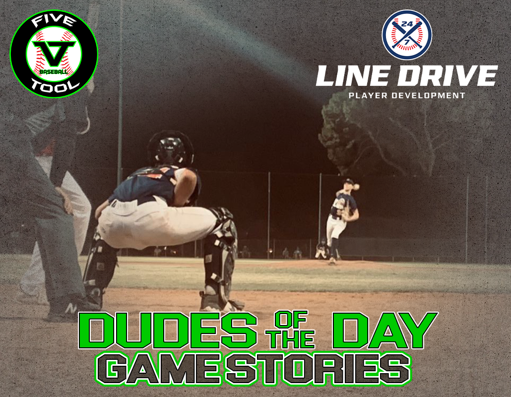 24 7 Line Drive Dudes of the Day/Game Stories: Five Tool West AZ Fall Club Challenge (Sunday, November 8)