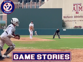 Game Stories: Five Tool Texas Houston College Championships (Saturday, July 3)