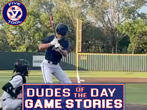 Dudes of the Day/Game Stories: Five Tool Texas DFW Fall Shootout (Saturday, Oct. 2-Sunday, Oct. 3)